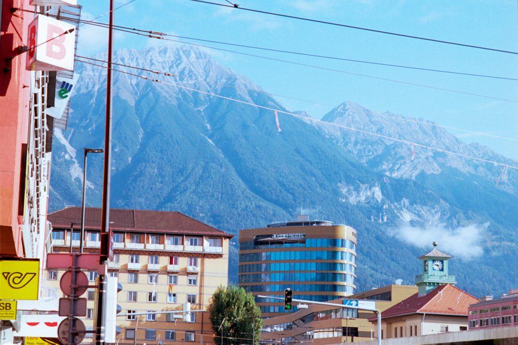 Innsbruck mit Blick auf Nordkette